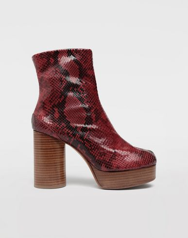 MAISON MARGIELA Tabi python-effect platform boots Tabi boots & Ankle boots Woman f
