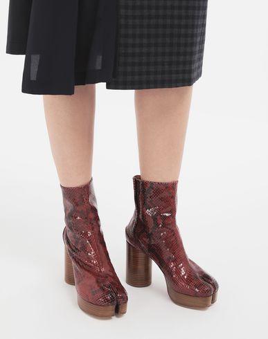 MAISON MARGIELA Tabi boots Woman Tabi python-effect platform boots r