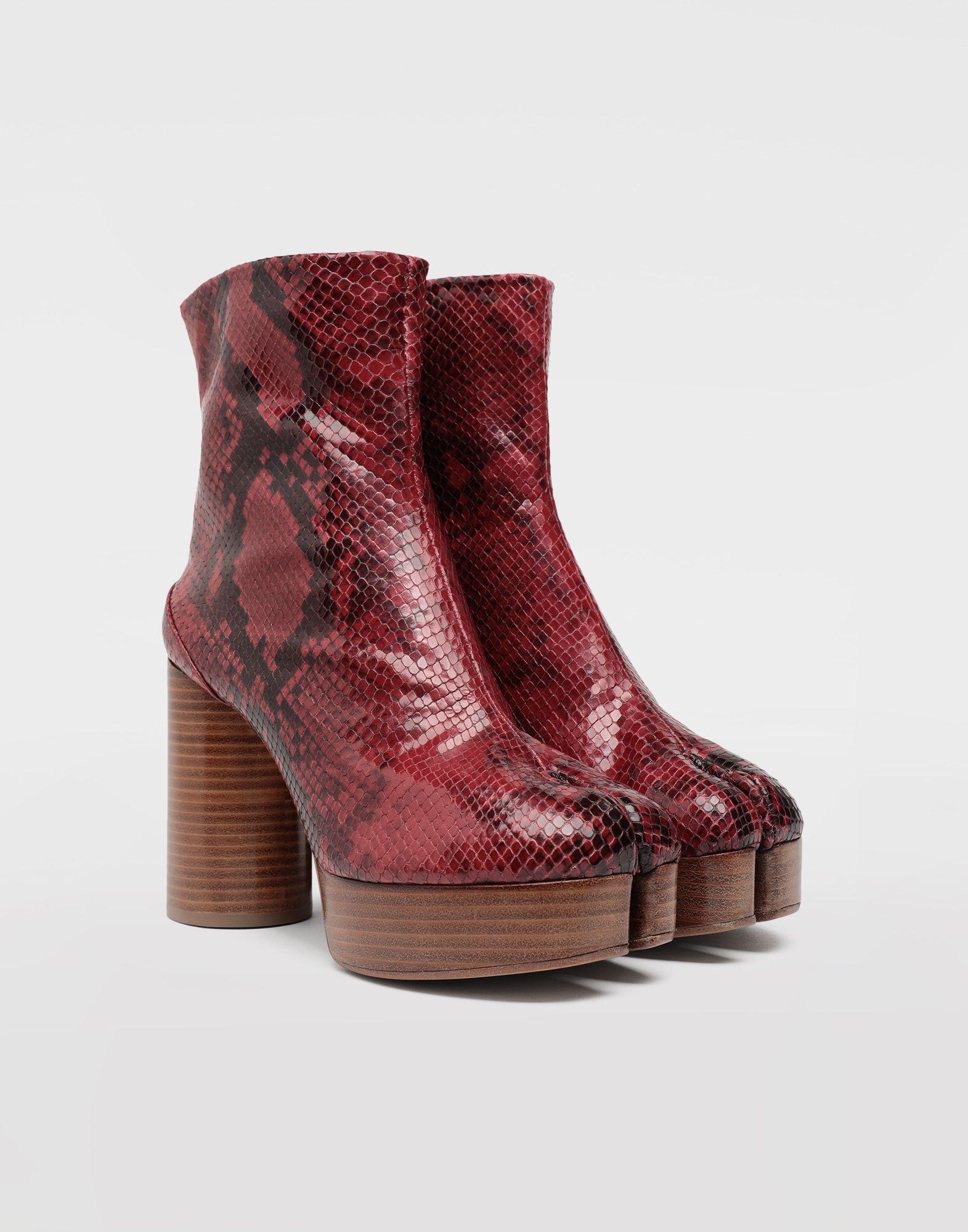 MAISON MARGIELA Tabi python-effect platform boots Tabi boots & Ankle boots Woman d