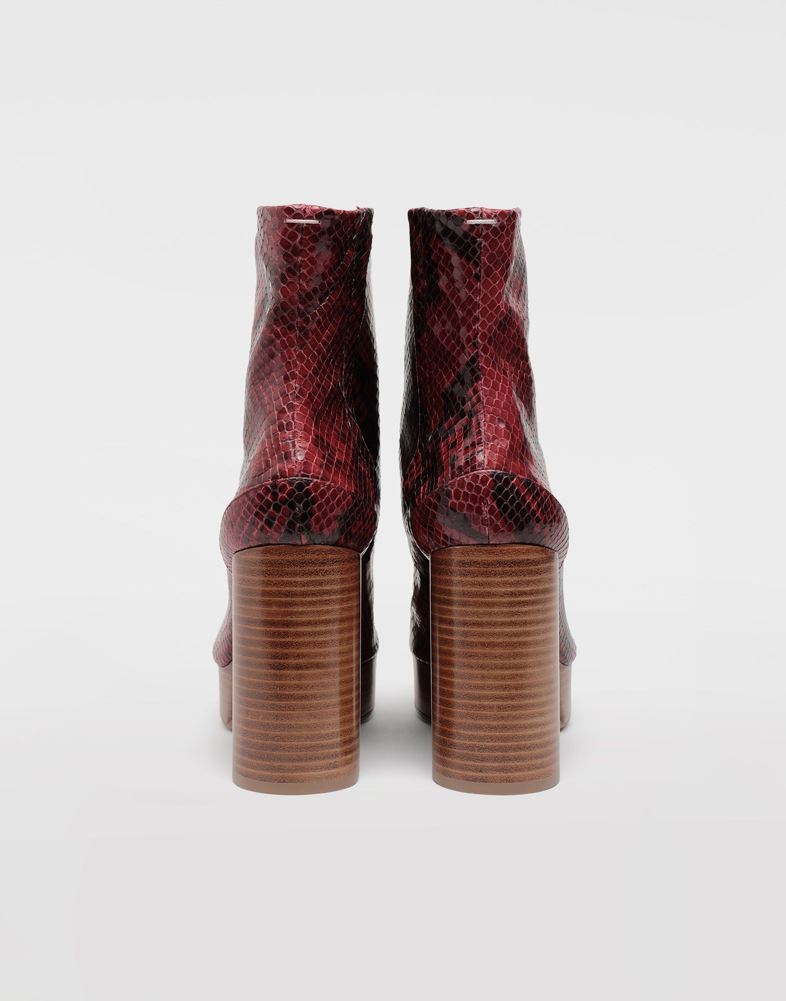 MAISON MARGIELA Tabi python-effect platform boots Tabi boots & Ankle boots Woman e