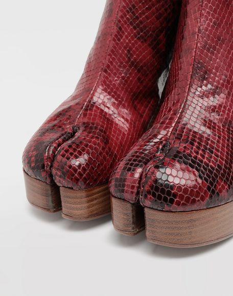 MAISON MARGIELA Tabi python-effect platform boots Tabi boots & Ankle boots Woman a