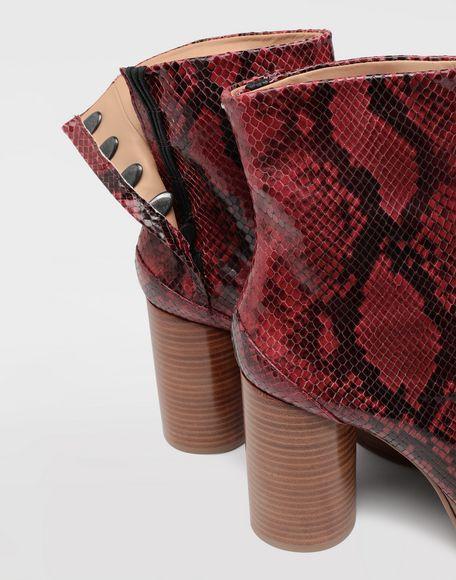MAISON MARGIELA Tabi python-effect platform boots Tabi boots Woman b