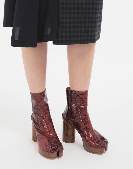 MAISON MARGIELA Tabi python-effect platform boots Tabi boots & Ankle boots Woman r