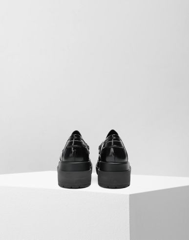 SHOES Leather loafers Black