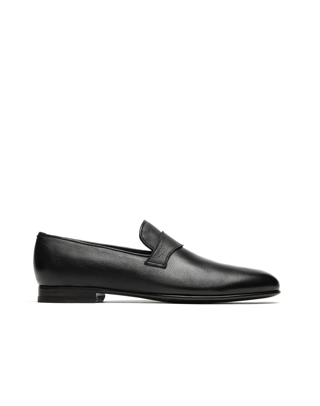 BRIONI Black Footglove Loafers. Formal shoes Man f