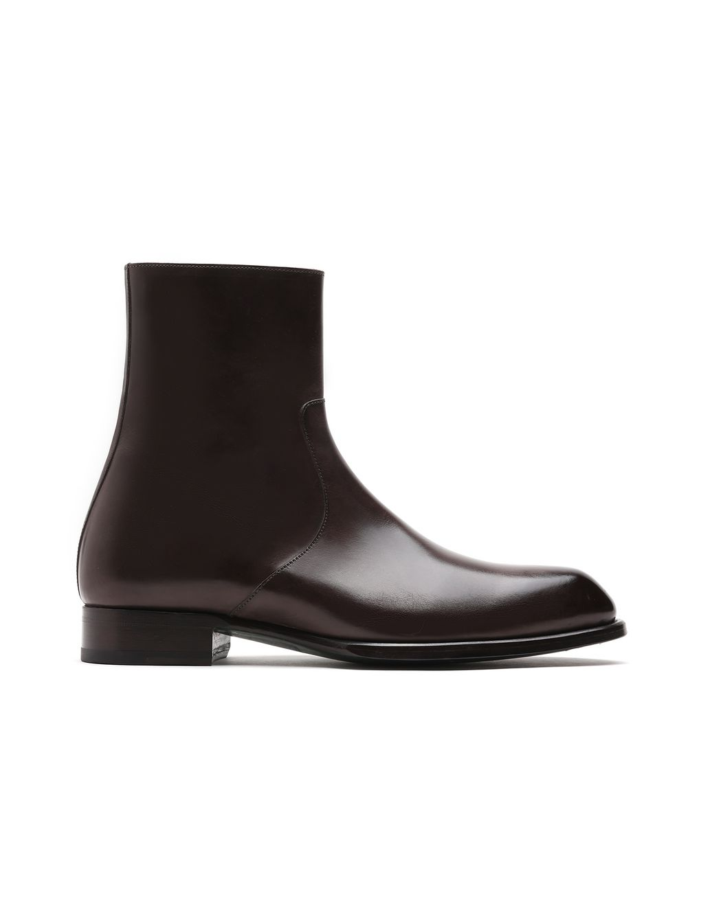 BRIONI Brown Zip Boot. Formal shoes Man f