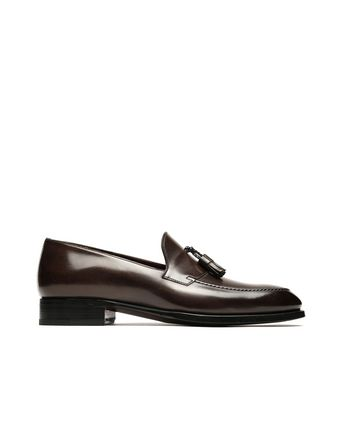 Brown Tassel Loafers.