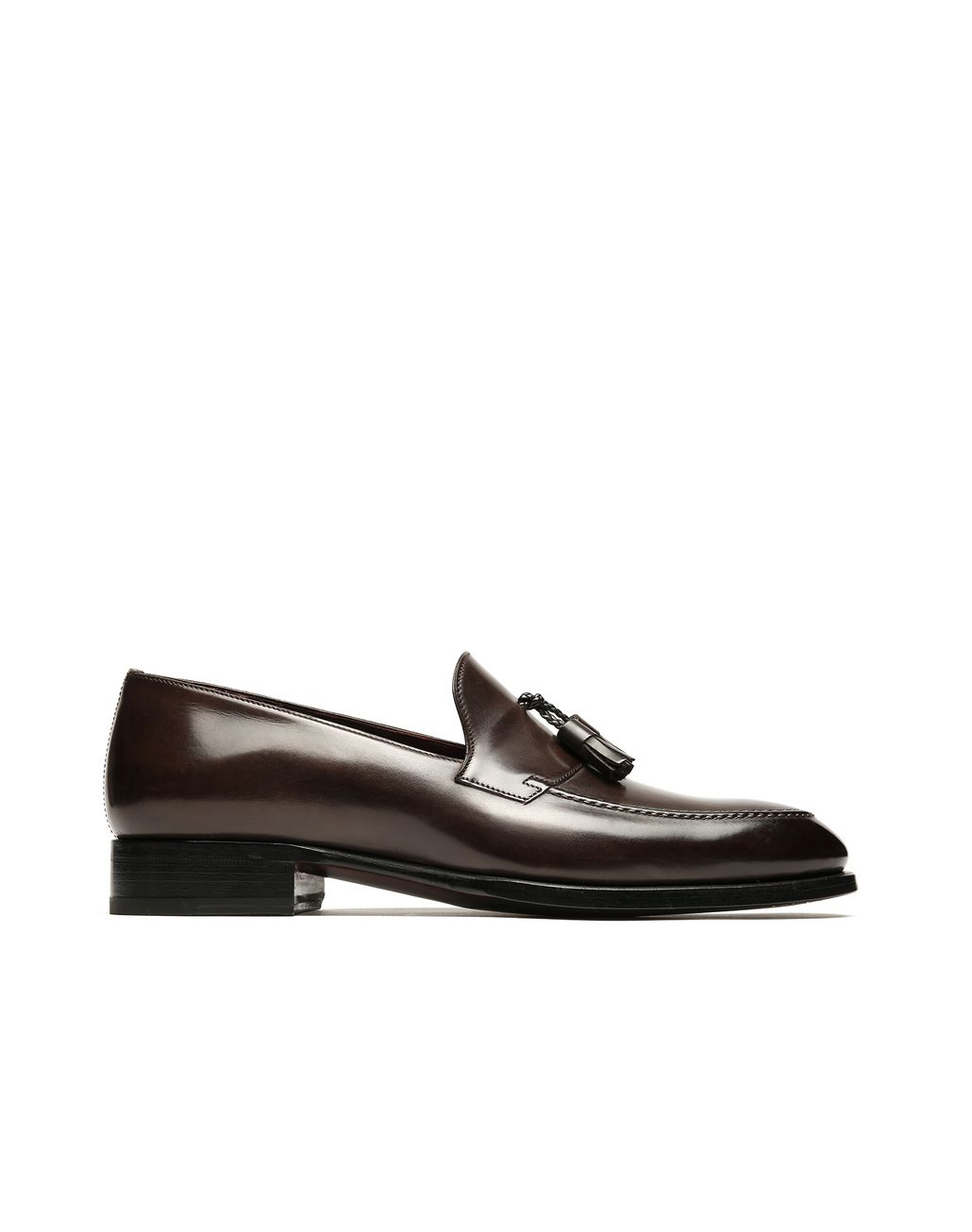 BRIONI Brown Tassel Loafers. Formal shoes Man f