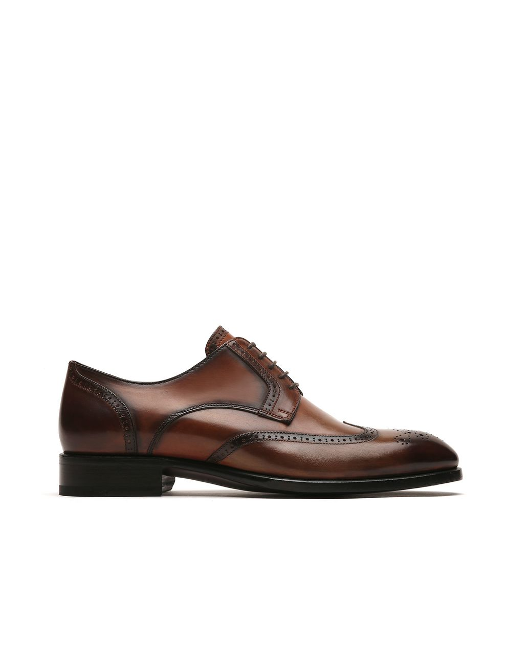 BRIONI Brown Derby Brogue. Formal shoes Man f