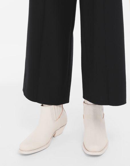 MM6 MAISON MARGIELA Кожаные полусапожки с двойным манжетом Полусапоги Для Женщин r