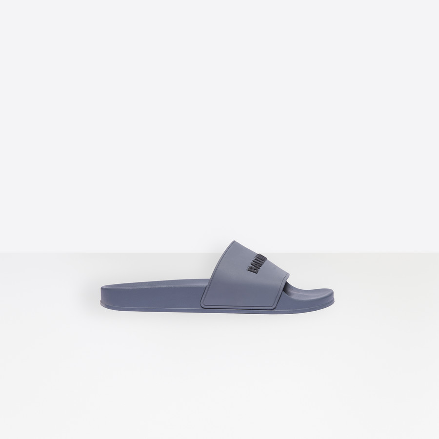 Pool Slide Sandals for Men   Balenciaga