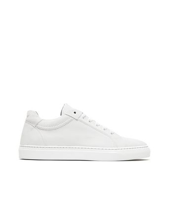 White Suede Sneakers.
