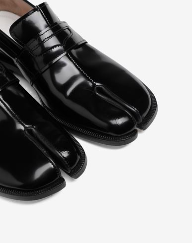 SHOES Tabi leather loafers