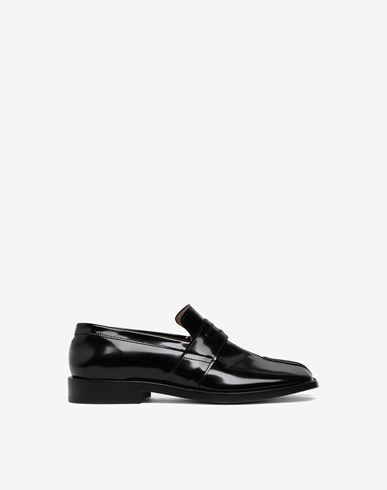 MAISON MARGIELA Tabi leather loafers Moccasins Woman f