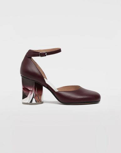 MAISON MARGIELA Trompe-l'œil ankle strap pumps Closed-toe slip-ons Woman f