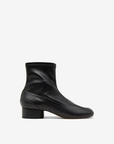MAISON MARGIELA Tabi faux leather sock boots Tabi boots Woman f