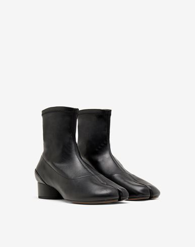 MAISON MARGIELA Tabi boots & Ankle boots Woman Tabi faux leather sock boots r