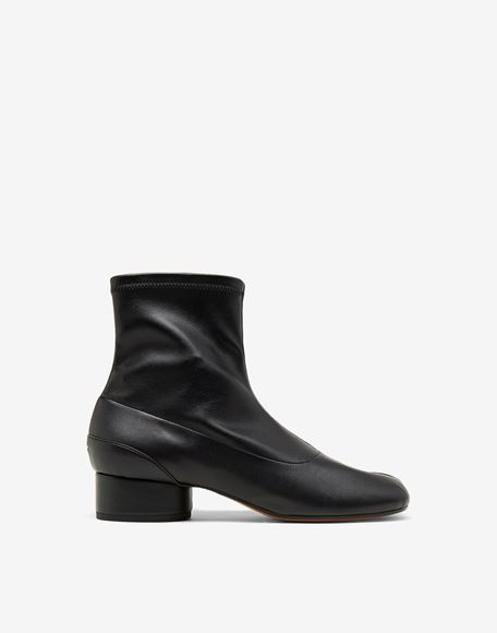 MAISON MARGIELA Tabi faux leather sock boots Tabi boots & Ankle boots Woman f