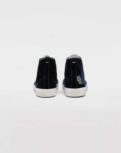 SHOES Tabi high-top velvet sneakers Blue