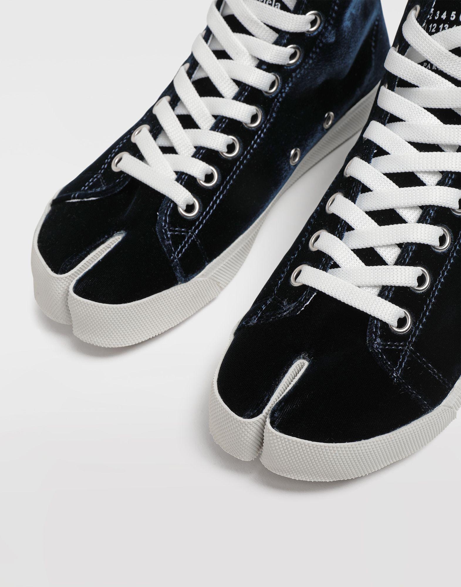 MAISON MARGIELA Tabi high-top velvet sneakers Sneakers Tabi Woman b