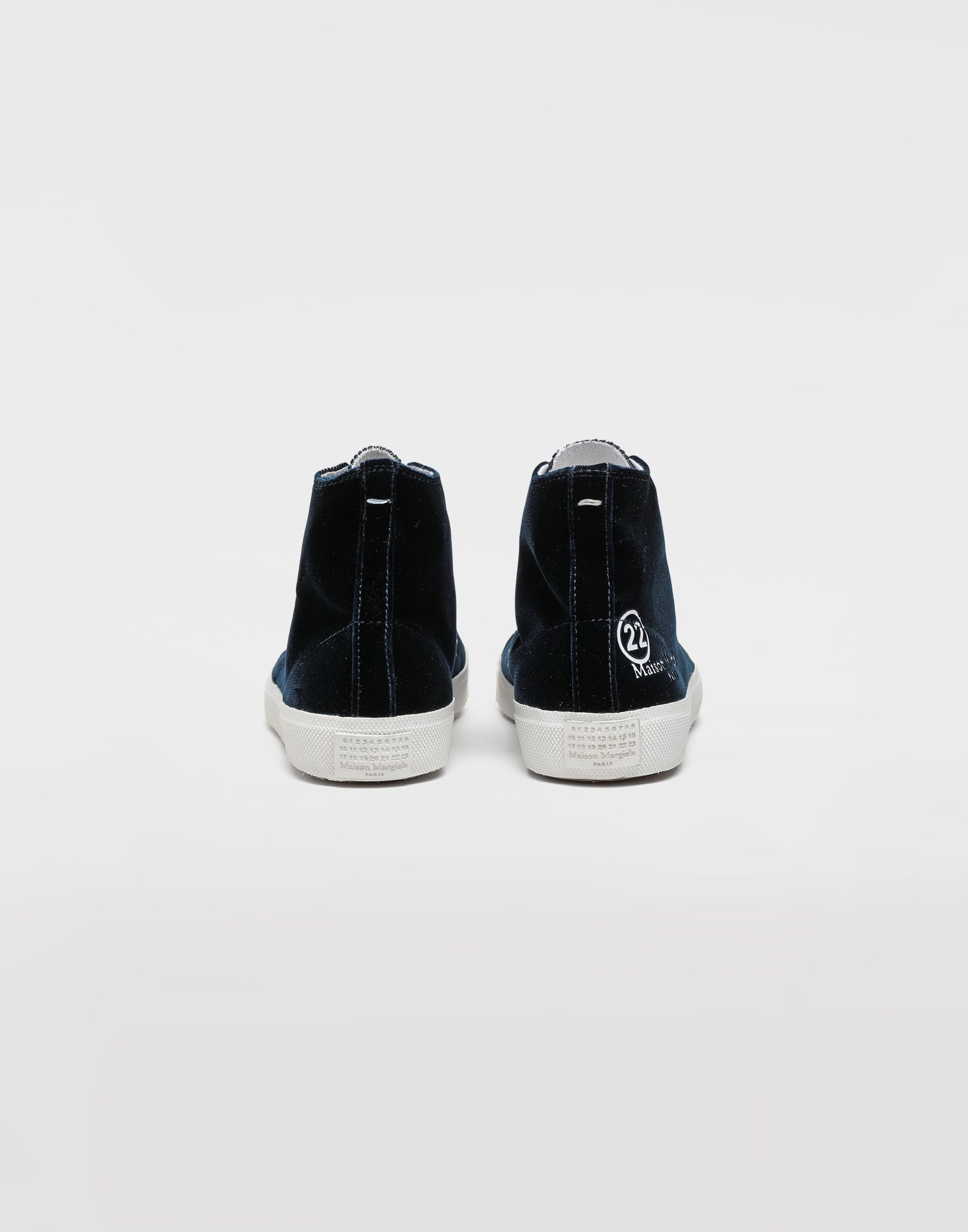 MAISON MARGIELA Tabi high-top velvet sneakers Sneakers Tabi Woman e