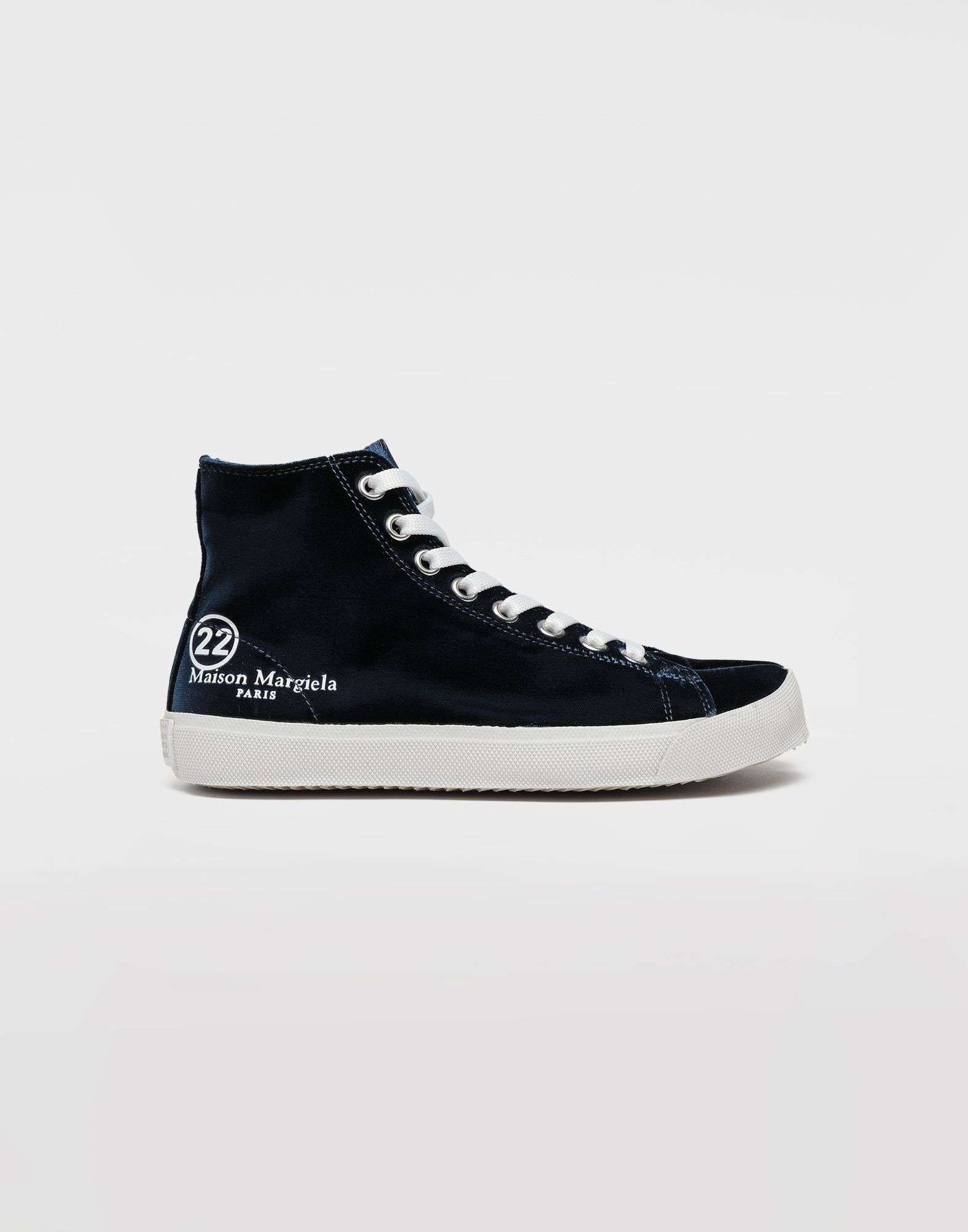 MAISON MARGIELA Tabi high-top velvet sneakers Sneakers Tabi Woman f