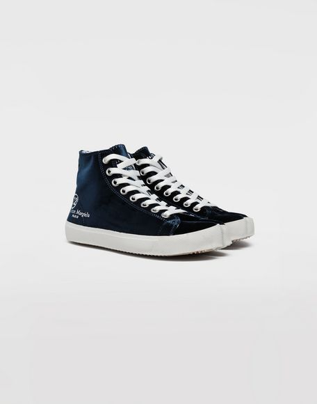 MAISON MARGIELA Tabi high-top velvet sneakers Sneakers Tabi Woman d