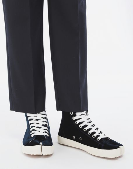 MAISON MARGIELA Tabi high-top velvet sneakers Sneakers Tabi Woman r