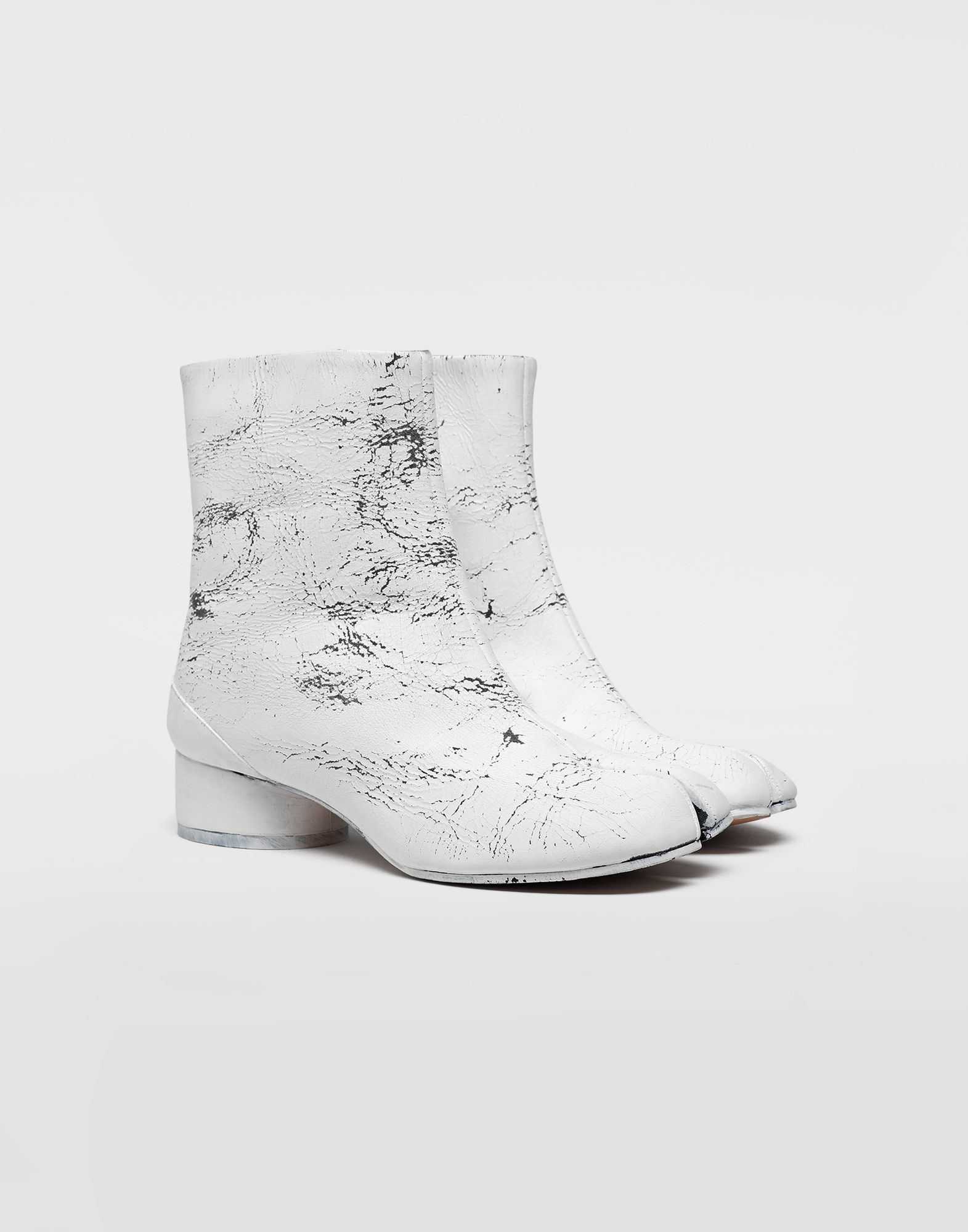 MAISON MARGIELA Tabi paint leather boots Tabi boots & Ankle boots Woman d