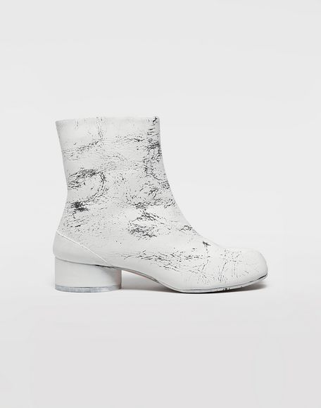 MAISON MARGIELA Tabi paint leather boots Tabi boots & Ankle boots Woman f