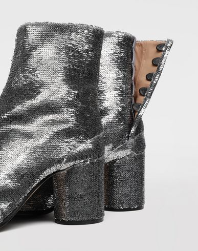 SHOES Tabi sequin boots Silver