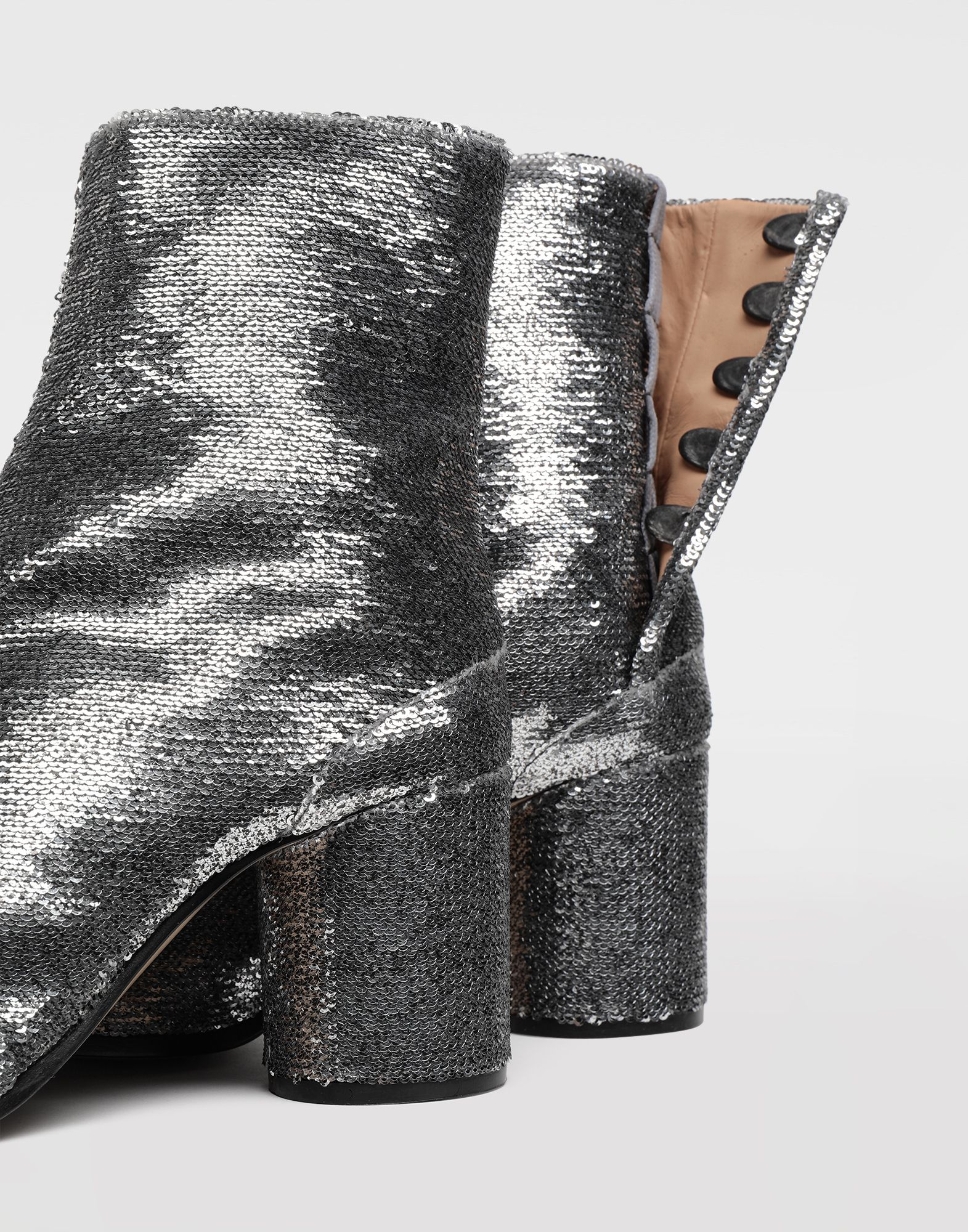 MAISON MARGIELA Tabi sequin boots Tabi boots & Ankle boots Woman a