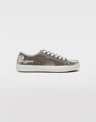 SHOES Tabi velvet sneakers Khaki