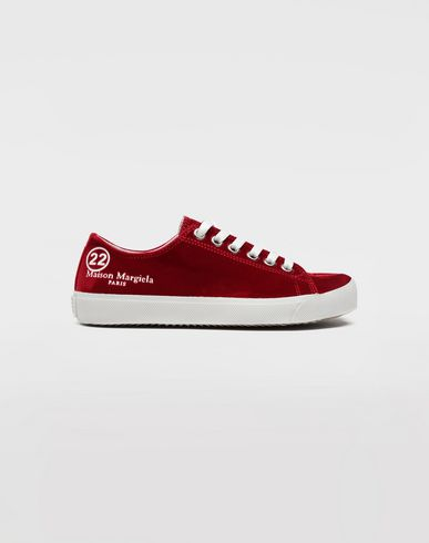 SHOES Tabi velvet sneakers Red
