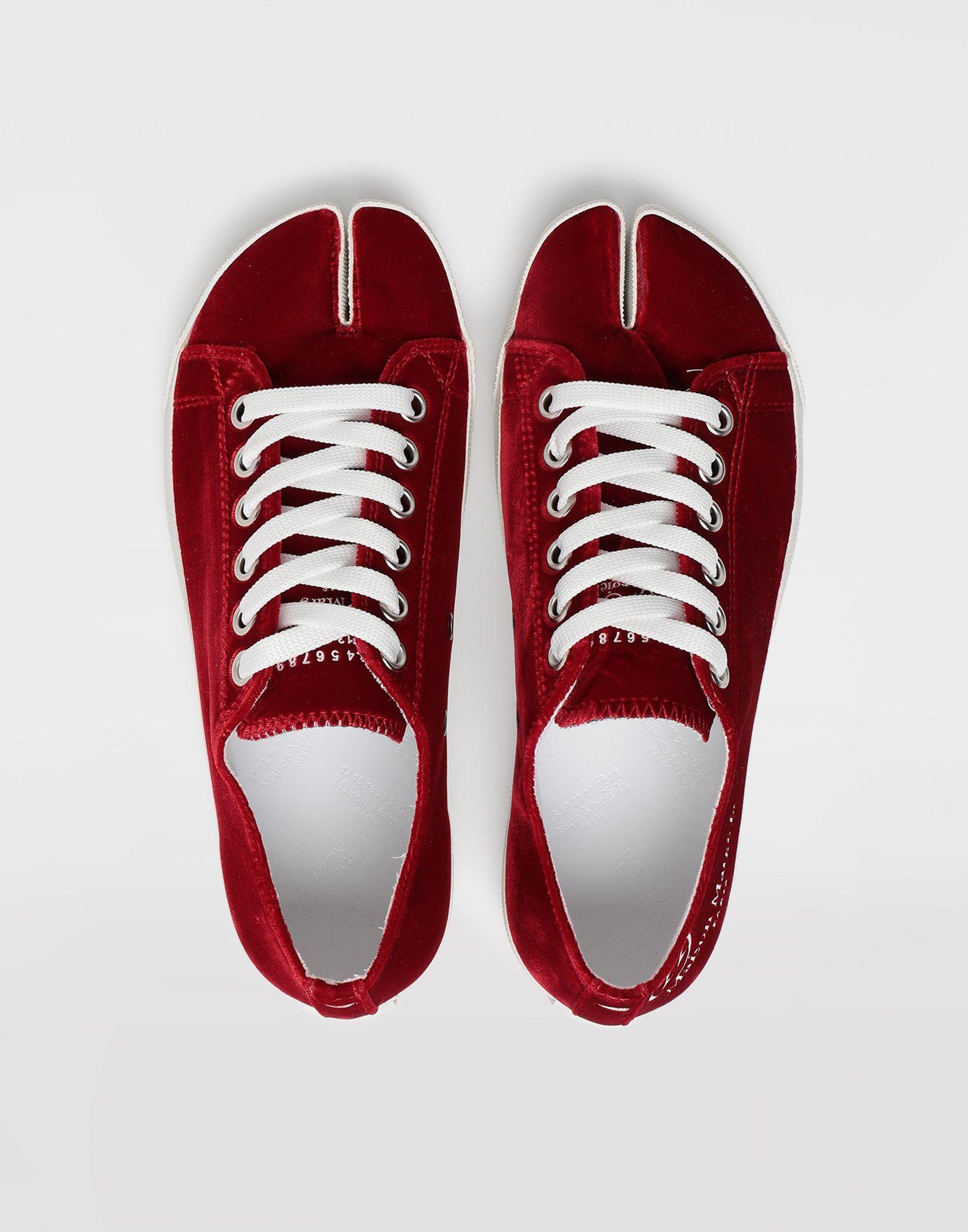 MAISON MARGIELA Tabi velvet sneakers Sneakers Tabi Woman e