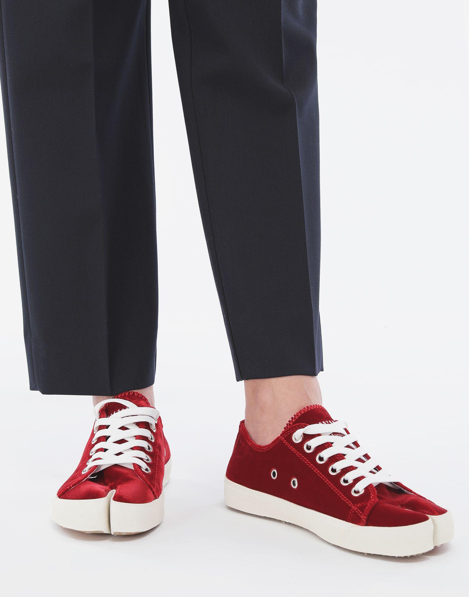 MAISON MARGIELA Tabi velvet sneakers Sneakers Tabi Woman r