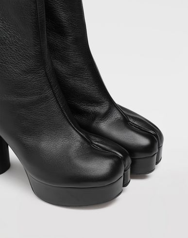 SHOES Tabi platform ankle boot Black
