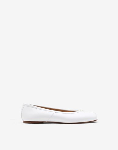 SHOES Tabi calfskin ballerinas White