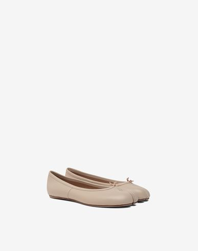SHOES Tabi calfskin ballerinas Beige