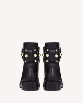 REDValentino FLOWER PUZZLE COMBAT BOOT