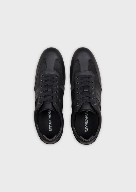 Action leather sneakers with tone-on-tone logo