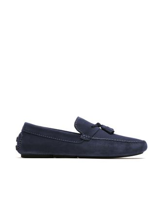 Blue Tassel Driver Loafers