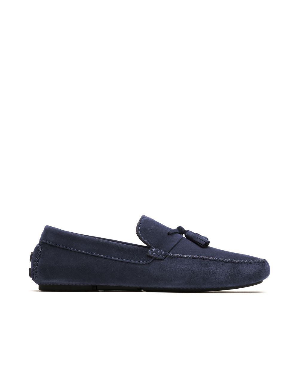 BRIONI Blue Tassel Driver Loafers Loafers Man f