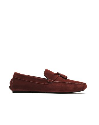Red Tassel Driver Loafers