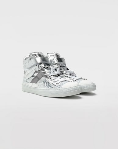 SHOES Evolution high-top sneakers Silver