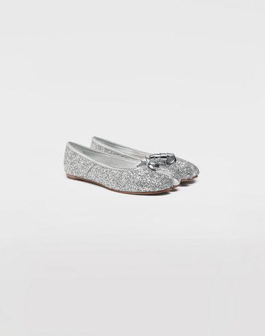 SHOES Tabi glitter ballerina Silver