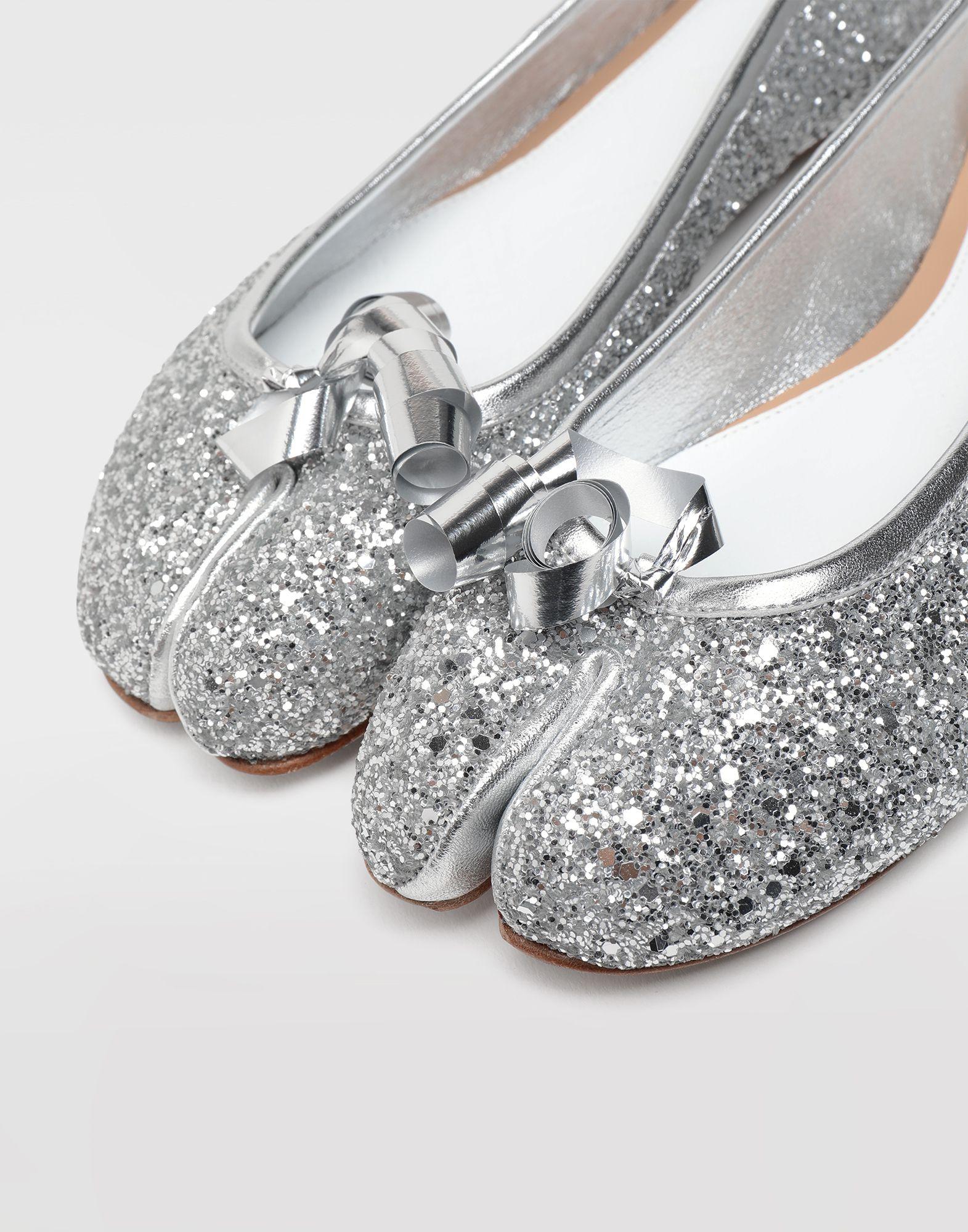 MAISON MARGIELA Tabi glitter ballerina Tabi ballet flats Woman a