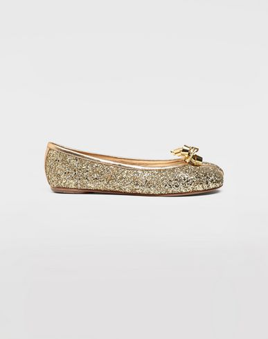 SHOES Tabi glitter ballerina Gold