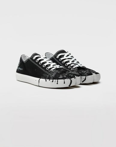 SHOES Tabi paint drop sneakers Black