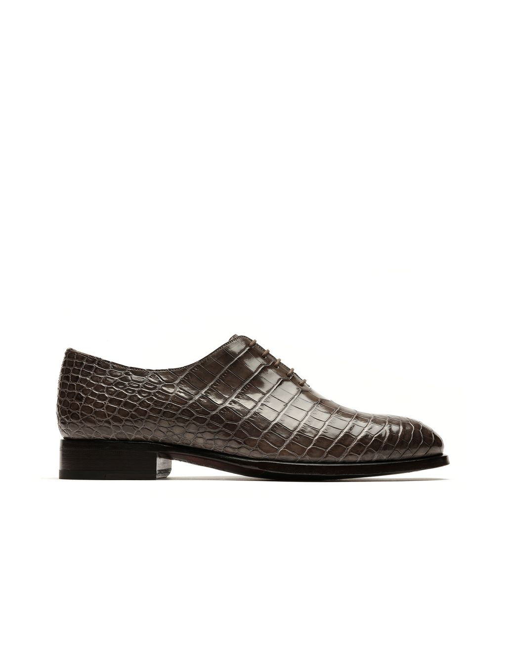 BRIONI Brown Alligator Oxford Formal shoes Man f